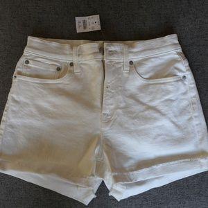 J. Crew Factory White Denim Shorts